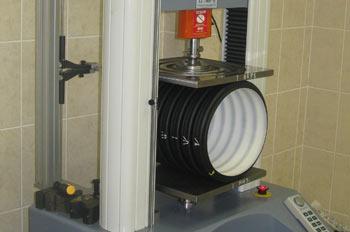 Лабораторные испытания трубы КОРСИС на иркутском трубном заводе